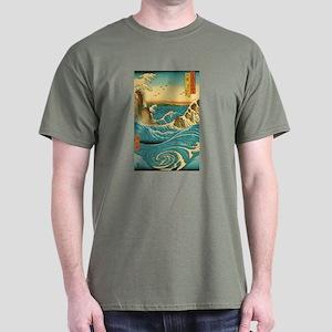 Hiroshige Navaro Rapids Dark T-Shirt