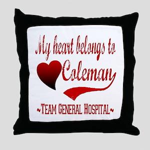 General Hospital Coleman Throw Pillow