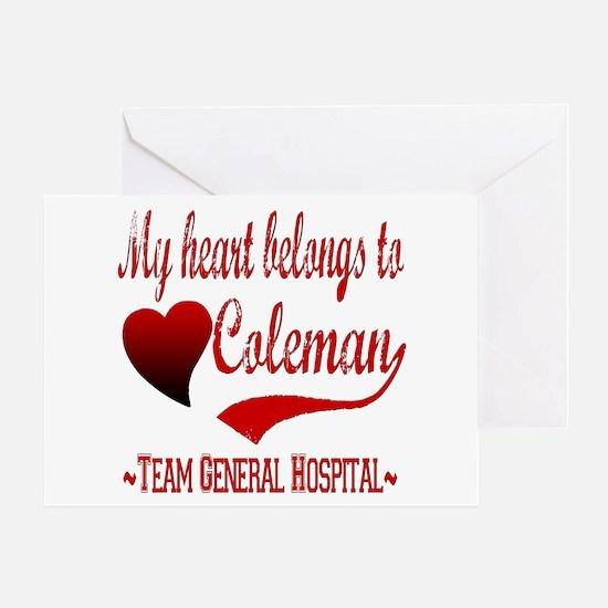 General Hospital Coleman Greeting Card