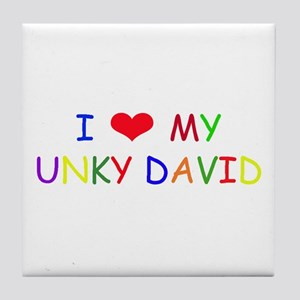 I (heart) love my uncle Tile Coaster