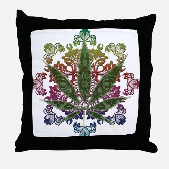 420 Graphic Design Throw Pillow