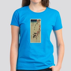 Hiroshige Swallows and Peach Blossoms Women's Dark