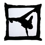 Breakdancing Throw Pillow
