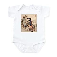 Hokusai Strong Oi Pouring Sake Infant Bodysuit