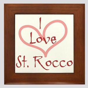 I love St. Rocco Heart Design Framed Tile