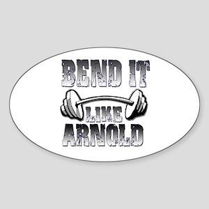 Bend it Sticker (Oval)
