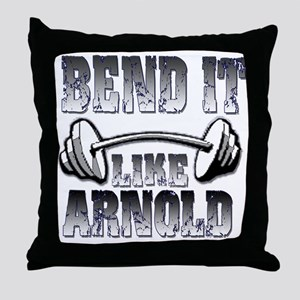 Bend it Throw Pillow