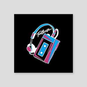 "Footloose Cassette Square Sticker 3"" x 3"""