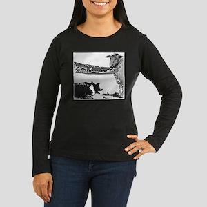 The Stand Off Women's Long Sleeve Dark T-Shirt