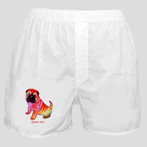 Sharpei - Sharp Hey in Rainbow colors Boxer Shorts