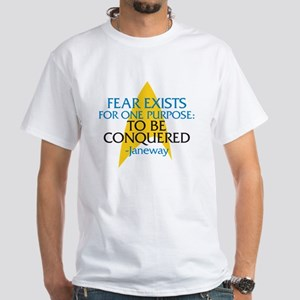 Star Trek: Janeway Fear Quote White T-Shirt