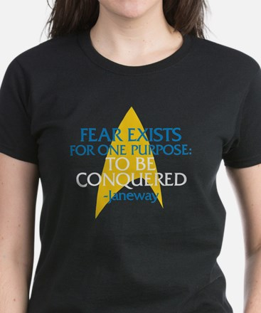 Star Trek: Janeway Fear Quote Women's Dark T-Shirt
