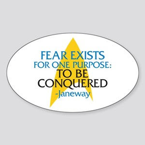 Star Trek: Janeway Fear Quote Sticker (Oval)