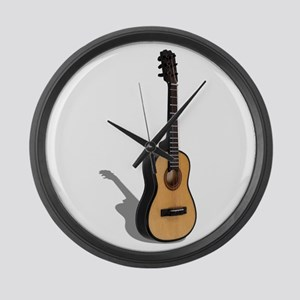 Guitar Large Wall Clock