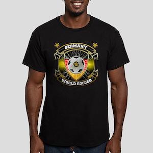 Germany World Soccer Men's Fitted T-Shirt (dark)
