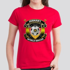 Germany World Soccer Women's Dark T-Shirt