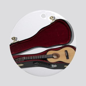 Guitar And Case Ornament (Round)