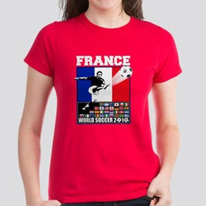 France World Soccer Women's Dark T-Shirt
