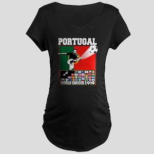 Portugal World Soccer Maternity Dark T-Shirt