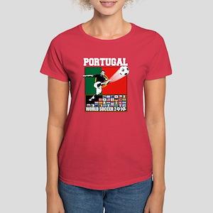 Portugal World Soccer Women's Dark T-Shirt
