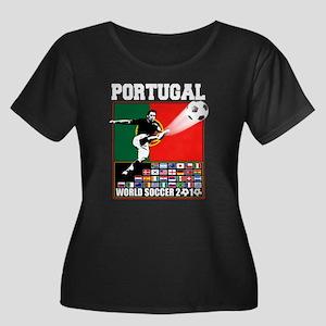 Portugal World Soccer Women's Plus Size Scoop Neck