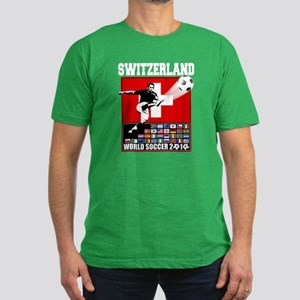Switzerland World Soccer Men's Fitted T-Shirt (dar