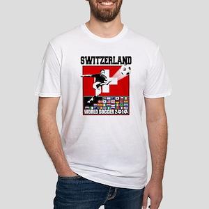 Switzerland World Soccer Fitted T-Shirt