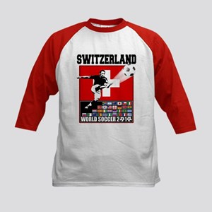 Switzerland World Soccer Kids Baseball Jersey
