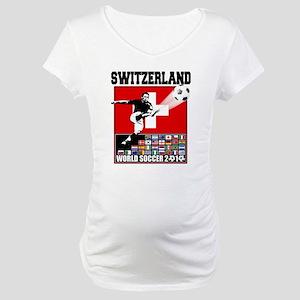 Switzerland World Soccer Maternity T-Shirt