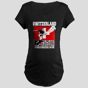 Switzerland World Soccer Maternity Dark T-Shirt