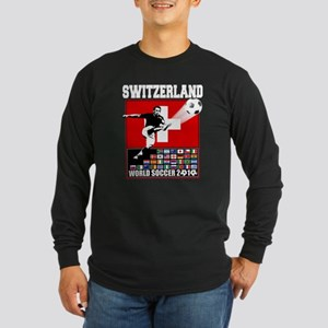 Switzerland World Soccer Long Sleeve Dark T-Shirt