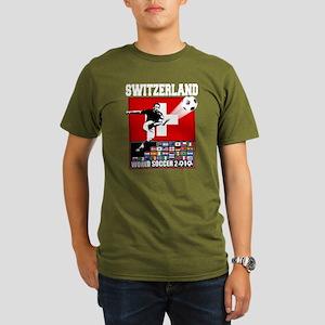 Switzerland World Soccer Organic Men's T-Shirt (da
