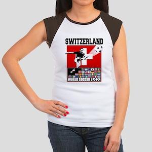 Switzerland World Soccer Women's Cap Sleeve T-Shir