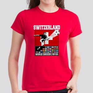 Switzerland World Soccer Women's Dark T-Shirt