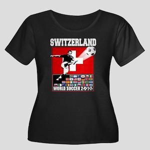 Switzerland World Soccer Women's Plus Size Scoop N