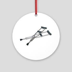 Metal Crutches Ornament (Round)