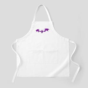 Cute Purple Bat Apron