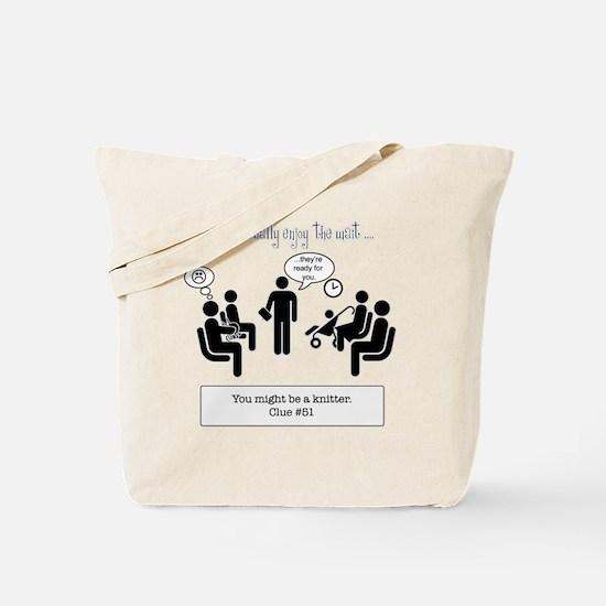 Unique Happy knitting Tote Bag