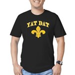 Cajun French Who Dat Men's Fitted T-Shirt (dark)
