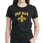 Cajun French Who Dat Women's Dark T-Shirt