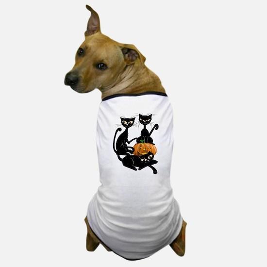 Three Black Kitties and a Pum Dog T-Shirt