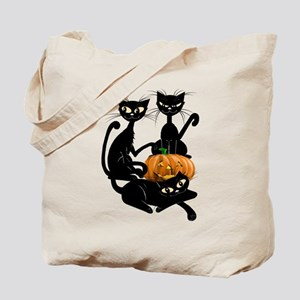 Three Black Kitties and a Pum Tote Bag