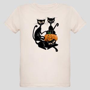 Three Black Kitties and a Pum Organic Kids T-Shirt