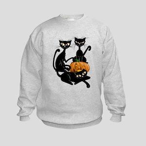 Three Black Kitties and a Pum Kids Sweatshirt