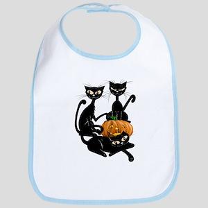 Three Black Kitties and a Pum Bib