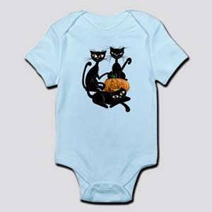 Three Black Kitties and a Pum Infant Bodysuit