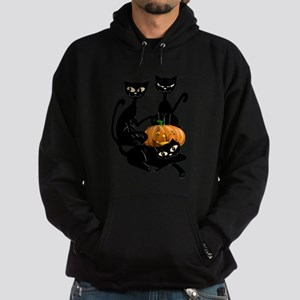 Three Black Kitties and a Pum Hoodie (dark)