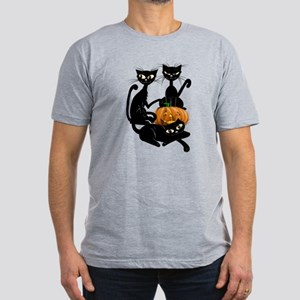Three Black Kitties and a Pum Men's Fitted T-Shirt