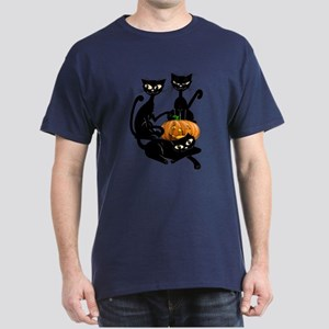 Three Black Kitties and a Pum Dark T-Shirt