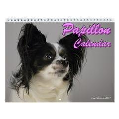 Papillon Dog Gigi Wall Calendar